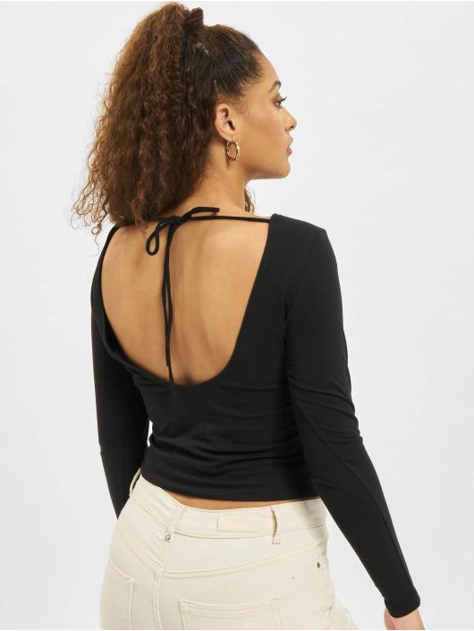 Only T-Shirt manches longues onlNiff Life Open Back noir