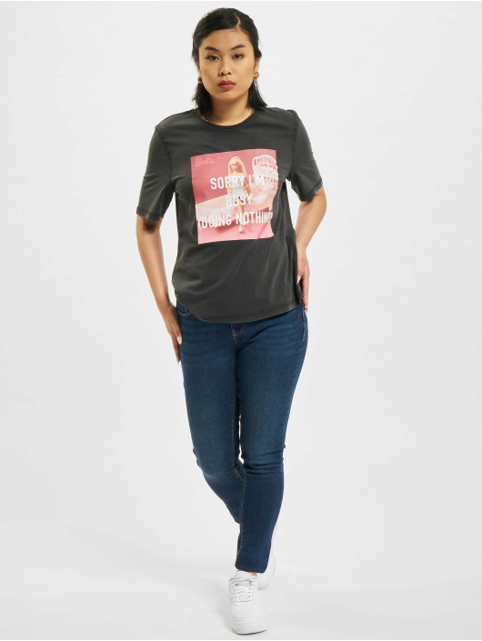 Only T-Shirt Only onlBarbie Life Boxy noir