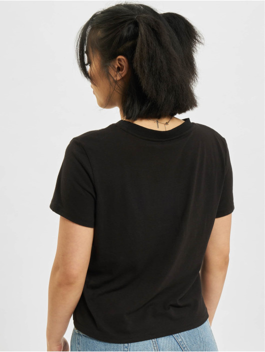 Only T-Shirt Ama Life Cropped O-Neck noir