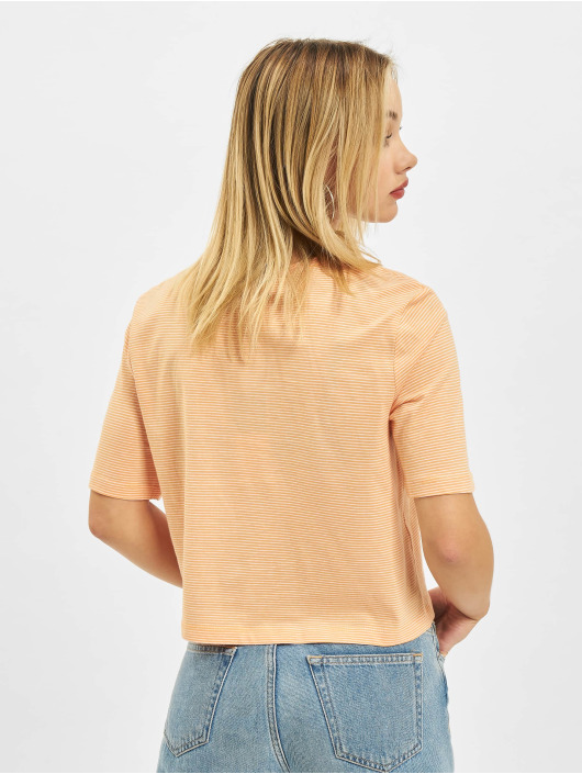 Only t-shirt Onlfruity Life Stripe JRS oranje