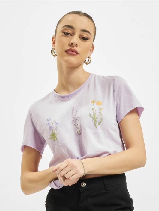 Only t-shirt onlLucy Life Reg Wildflower paars