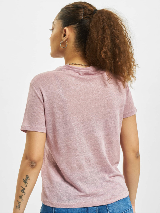 Only T-Shirt onlPatrice Linen Denim pourpre