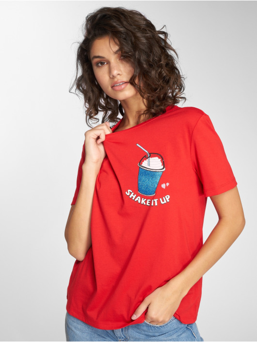 Only T-Shirt onlCamilla red