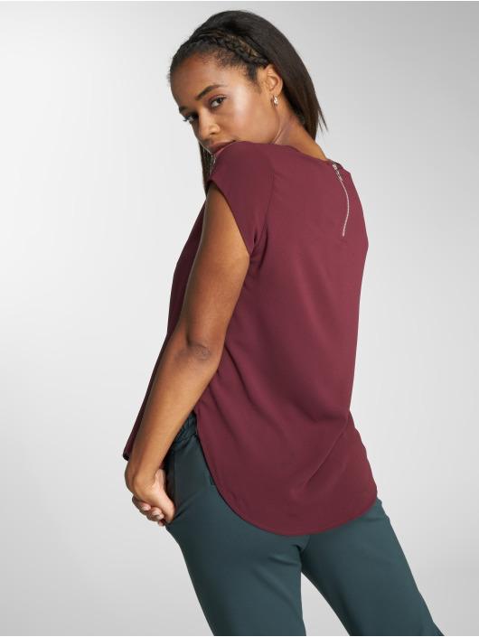 Only T-shirt onlVic Solid Woven röd