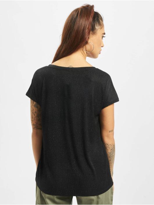 Only T-Shirt Flock Details schwarz