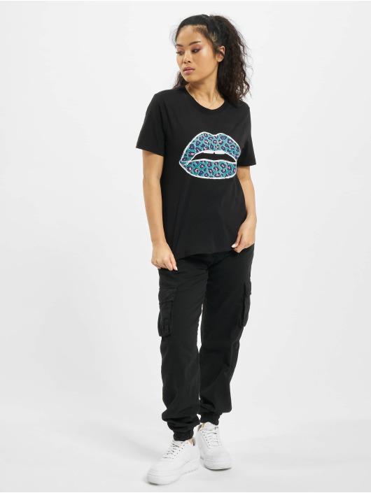 Only T-Shirt onlLips schwarz