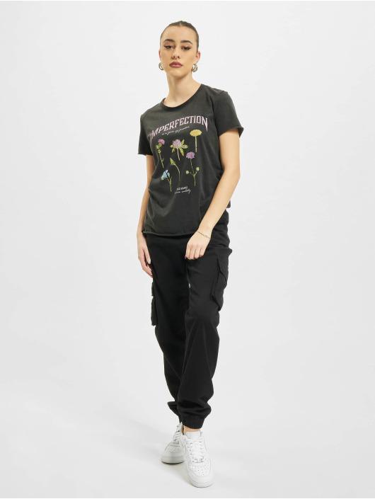 Only T-Shirt onlLucy Life Reg Wildflower schwarz