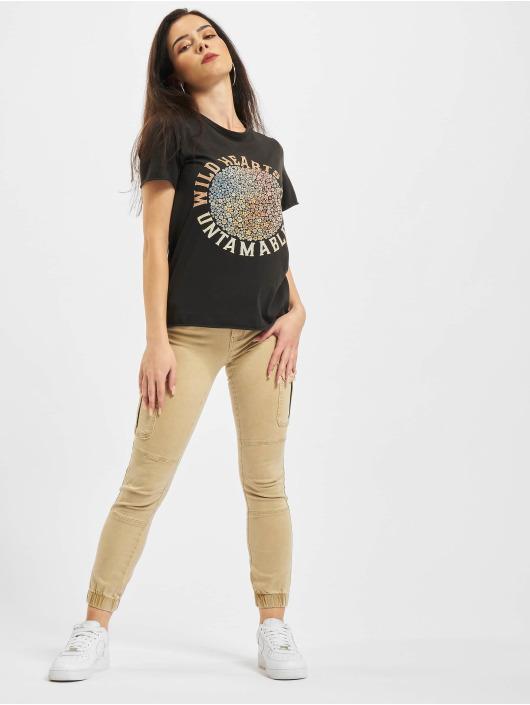 Only T-Shirt Life Flower Box JRS schwarz
