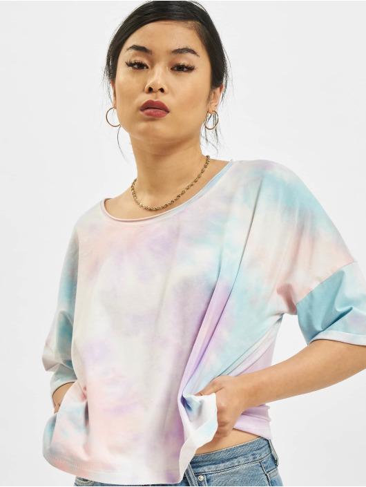 Only T-Shirt Zoey Life Tie Dye Denim türkis