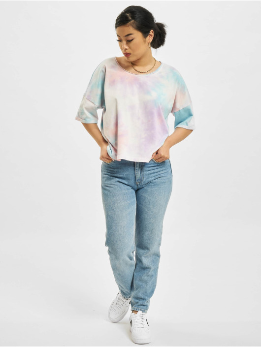 Only T-Shirt Zoey Life Tie Dye Denim turquoise