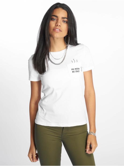 Only T-Shirt onlPolly Regular Pocket Box Co weiß