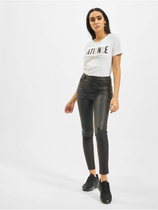 Only T-Shirt onlVivienne Regular Bling weiß