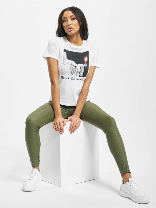 Only T-Shirt onlSadie Regular Photo weiß