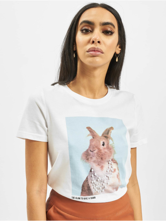 Only T-Shirt onlCathrine Regular Pet weiß