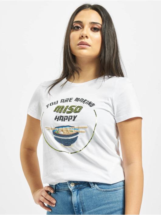 Only T-Shirt onlarina Food weiß