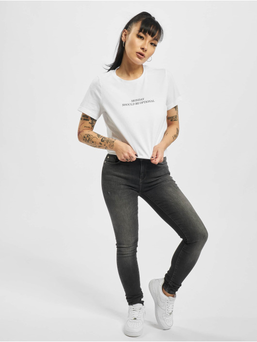 Only T-Shirt onlGabriella weiß
