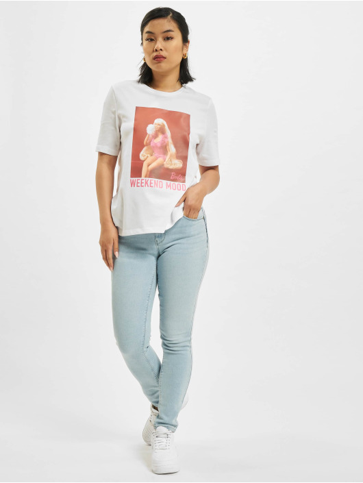 Only T-Shirt Only onlBarbie Life Boxy weiß