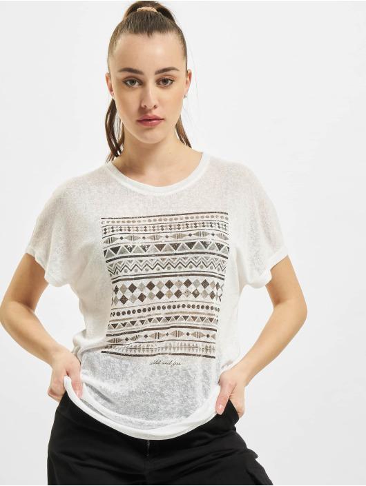 Only T-Shirt onlPiper Reg Bat weiß