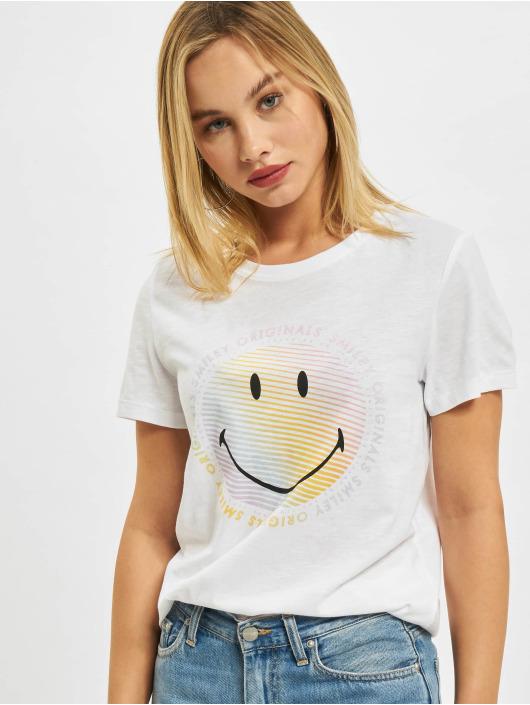 Only T-Shirt Onlsmiley Life REG JRS weiß