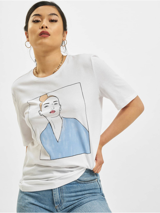 Only t-shirt onlDina Life Boxy Shortsleeve Box wit