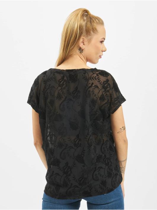 Only t-shirt Flock Details zwart