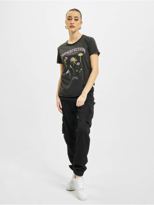Only t-shirt onlLucy Life Reg Wildflower zwart