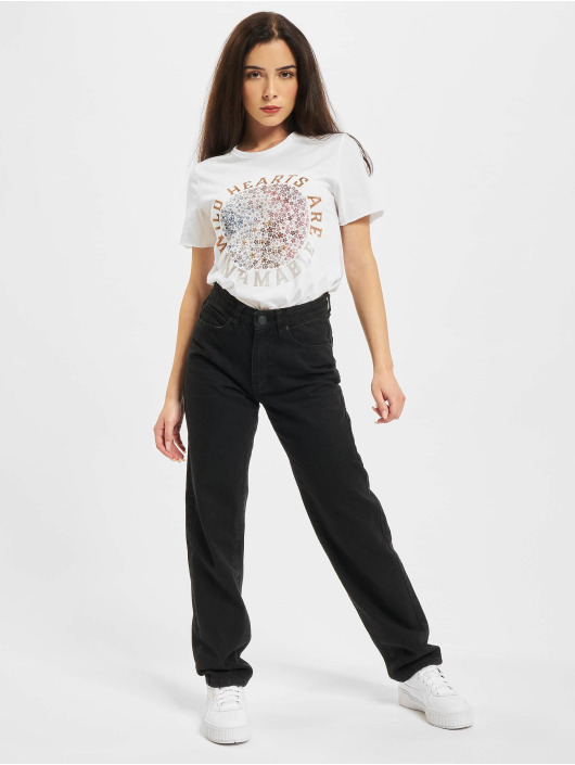 Only T-shirts Onllucy Life Flower Box JRS hvid