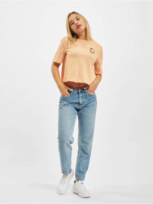 Only T-shirts Onlfruity Life Stripe JRS orange