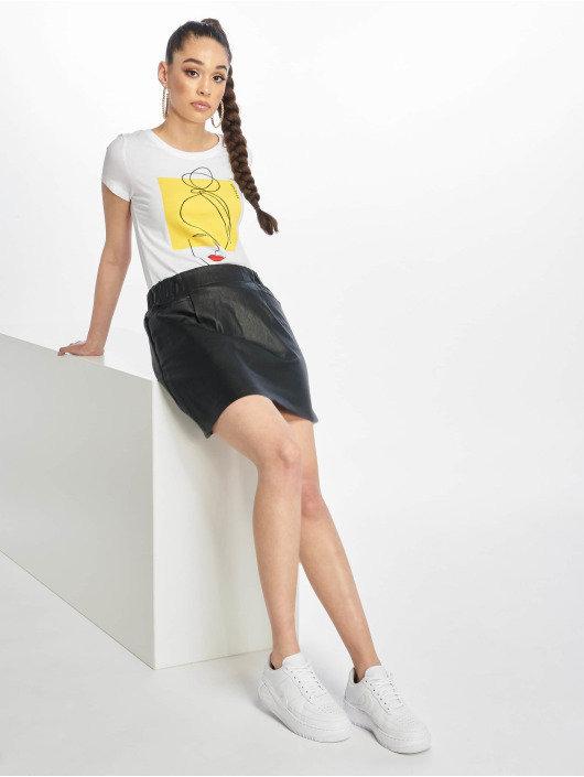 Only T-Shirty onlFancy Fit Face bialy