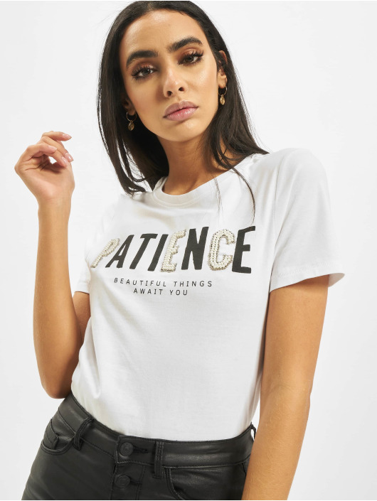 Only T-Shirty onlVivienne Regular Bling bialy