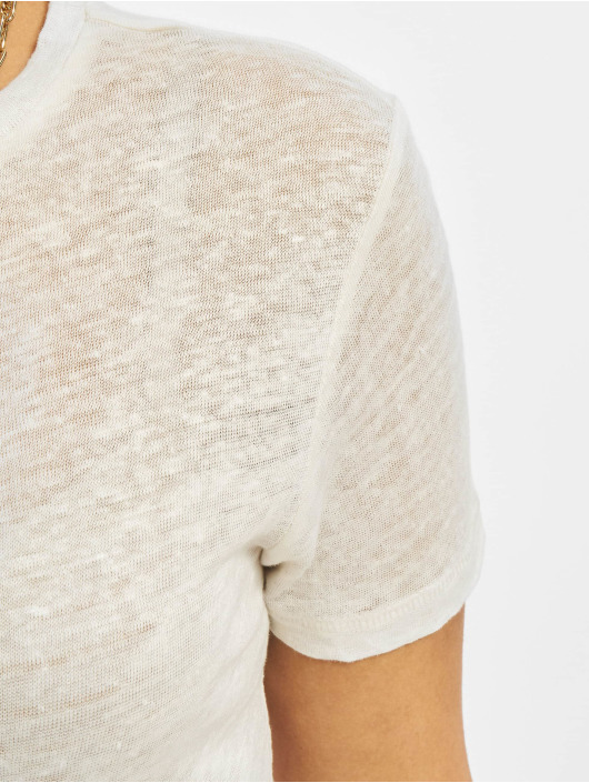 Only T-Shirty onlPatrice Linen Denim bialy