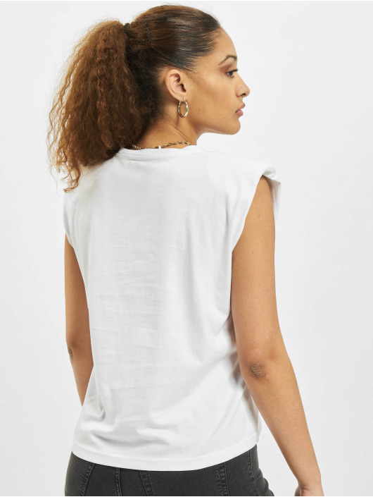 Only T-Shirty onlAmy Padded Shoulder bialy