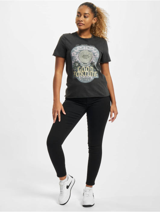 Only T-Shirty Onllucy Fortune czarny