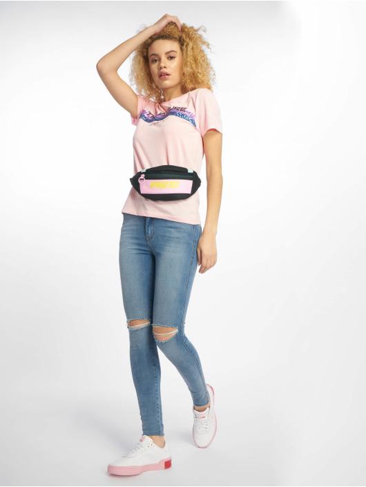 Only T-Shirty onlKita Regular Sequin Box Co rózowy