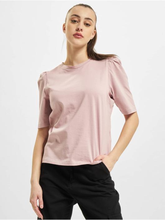Only T-Shirty onlNora Pastel Life Vol Denim rózowy
