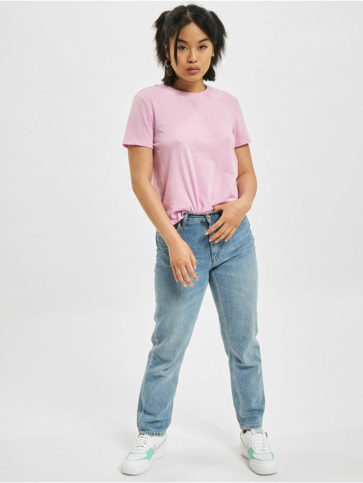 Only T-Shirty Ama Life Cropped O-Neck rózowy