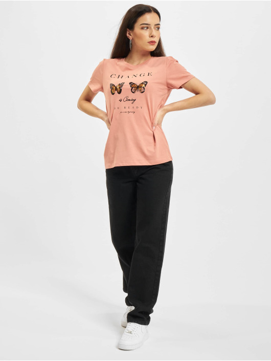 Only T-Shirty Onlkita Life Butterfly Box JRS rózowy