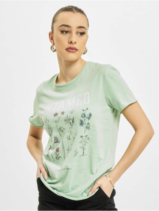 Only T-Shirty onlLucy Life Reg Wildflower zielony