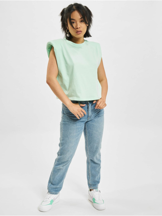 Only T-Shirty Jen Life Shoulderpad zielony