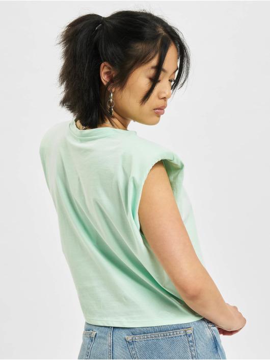 Only T-skjorter Jen Life Shoulderpad grøn