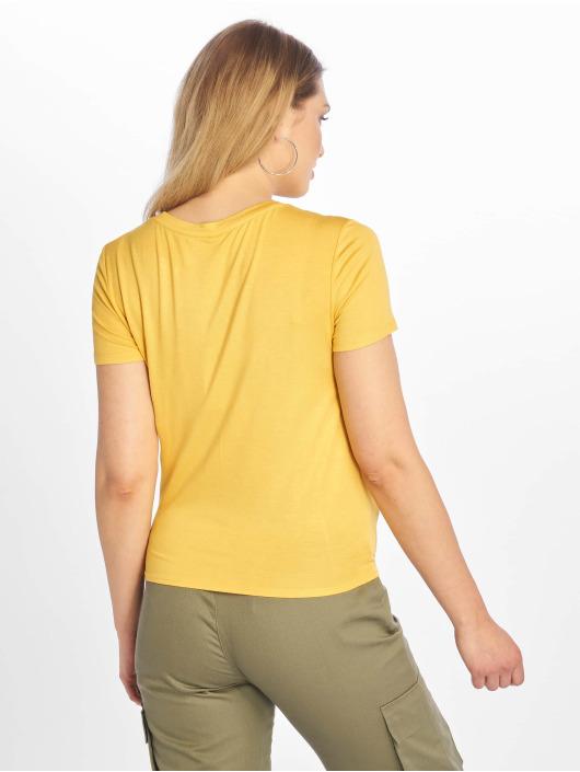Only T-skjorter onlArli Knot gul