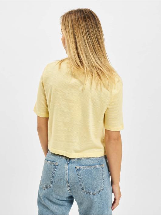 Only T-skjorter Onlfruity Life Stripe JRS gul