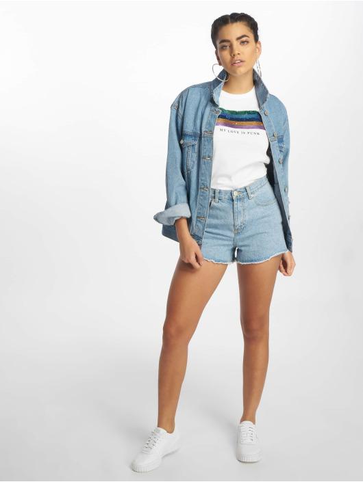 Only T-skjorter onlKita Regular Sequin Box Co hvit