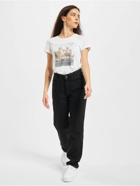 Only T-skjorter Onllux Life Fit JRS hvit
