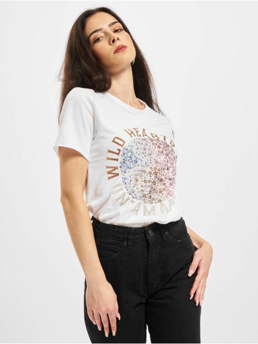 Only T-skjorter Onllucy Life Flower Box JRS hvit