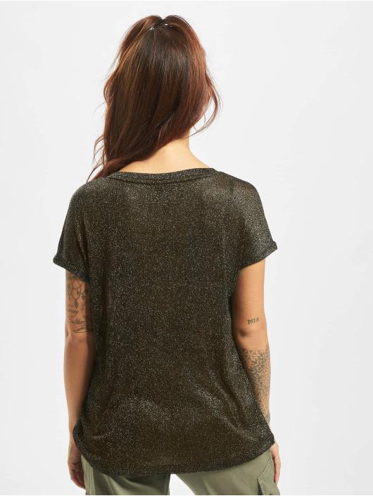 Only T-skjorter Flock Details svart