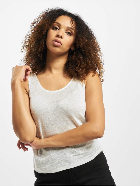 Only Tank Tops onlPatrice Linen Dnm bialy