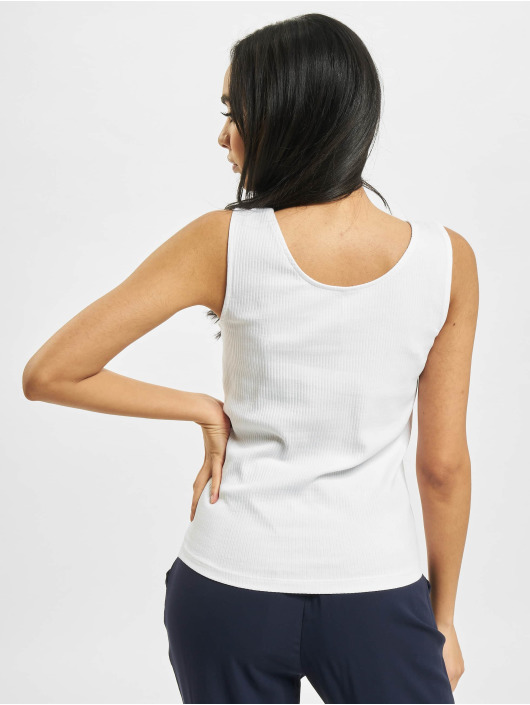 Only Tank Tops onlSimple Life Button white