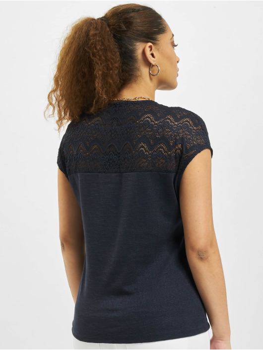 Only Top onlElvira Mix Lace blau