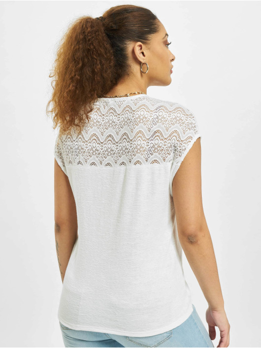 Only Tops sans manche onlElvira Mix Lace blanc
